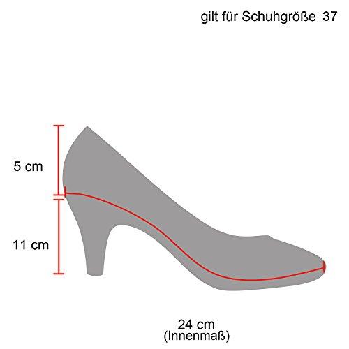 Stiefelparadies Damen Pumps High Heels mit Stilettoabsatz Flandell Schwarz Lack Glitzer
