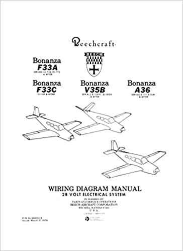 Beechcraft Bonanza F33A F33C V35B A36 Wiring Diagram 28V
