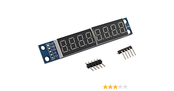 Treedix 5 pcs MAX7219 8-Bit Digital Display Module 7-Segment Numeric LED Display Serially Interfaced Compatible with Arduino