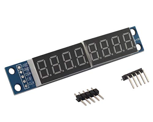 - Magic&shell 1PC MAX7219 8-Digit 7 Segment LED Display Tube Module for Arduino MCU/51/AVR/STM32