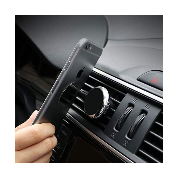 Magnetic-Car-Phone-Holder-Air-Vent-Cell-Phone-Holder-Mount-with-Perfume-Outlets-Easy-to-Use-Extra-Metal-Plates