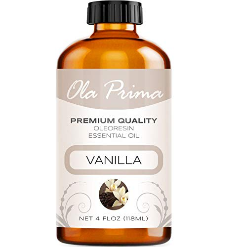 - 4oz - Premium Quality Vanilla Essential Oil (4 Ounce with Dropper) Therapeutic Grade Vanilla Oil