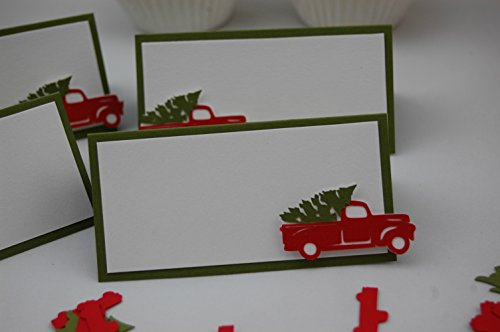 Christmas Truck Party Food Buffet Name Tags (set of 6)