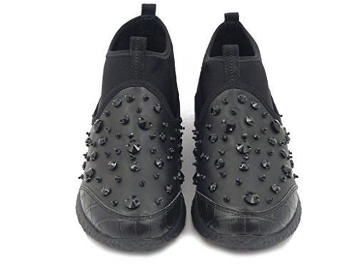 Osvaldo E A301aa Pericoli 24 Pelle Tessuto H Sneaker I16 In sottopiede Elasticizzato Estraibile Nero YqrYRw