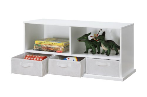 Badger Basket Shelf Storage Cubby with Three Baskets, White by Badger Basket (Image #2)
