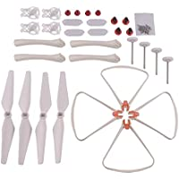 YouCute Spare Parts for Syma X8SW X8SC RC Quadcopter RC Drone White Blade Protecting frame (Large kit)