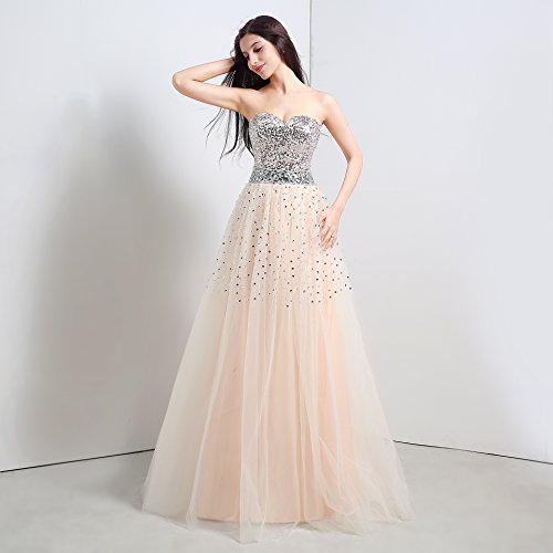 Bridal_Mall - Vestido - trapecio - Sin mangas - para mujer naranja 36