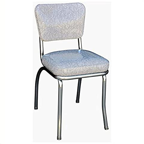 Richardson Seating Cracked Ice Retro Dining Chair with Chrome Base - Chair Chrome Base