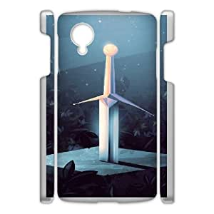 Durable Rubber Cases Google Nexus 5 Cell Phone Case White Uogpz The Sword in the Stone Protection Cover