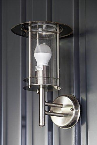 Brilliant York Außenwandleuchte stehend spritzwassergeschützt edelstahl, 1x E27 geeignet für Normallampen bis max. 60W