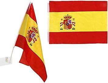 Atosa-22190 Atosa-22190-Banderin De España para Coche 30X45 cm-Mundial De Fútbol Y Deportes, Color Rojo y Amarillo (22190): Amazon.es: Juguetes y juegos