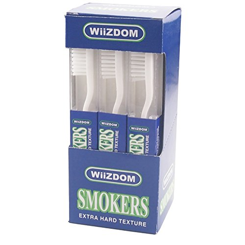 Dr.Perfect Wiizdom Adult Smoker's Toothbrush Super Hard Bristles (12)