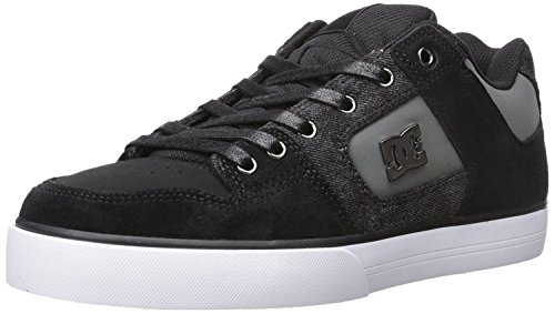 DC Mens Pure Se Skate Shoe, Black Destroy Wash, 41 D(M) EU/7.5 D(M) UK