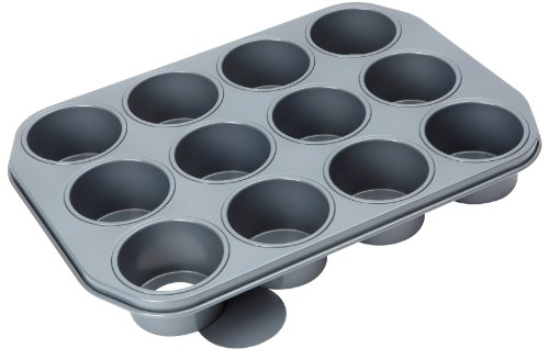 Baker's Pride 12 cup Dessert pan with loose bases (7.5 x 4.5cm cups) 12 Hole Mini Muffin