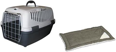 Caja de transporte Gulliver 2 ll con cojín Perros Box Gatos caja de transporte perros y gatos Caja de transporte Kennel Auto Caja para perros gatos animales pequeños Dormir Box Box cuna