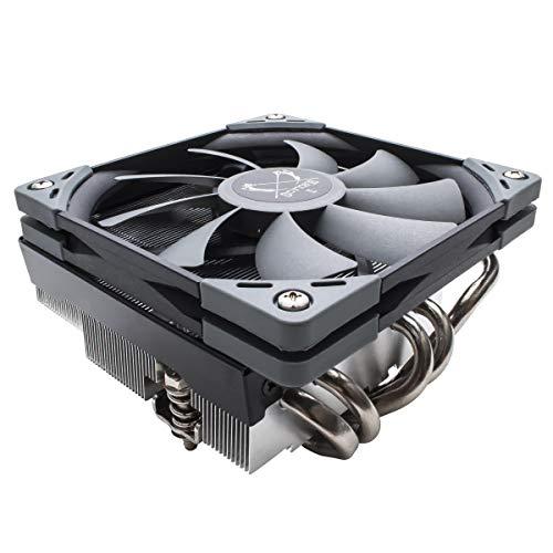 Scythe Big Shuriken 3 Low Profile 120mm Air CPU Cooler, Slim CPU Fan with 5 Heatpipes for Mini ITX, Intel LGA1151, AMD AM4 (Best Htpc Cpu Cooler)