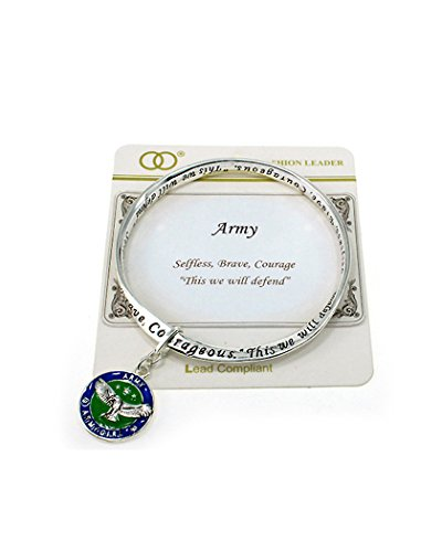 Jewelry Nexus Army Inspirational Bangle Bracelet Selfless Brave Courage This We Will Defend