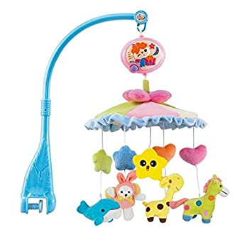 Amazon hosim baby cute cartoon animals lullaby nursery crib cot hosim baby cute cartoon animals lullaby nursery crib cot stoller music box baby gift musical mobile negle Image collections