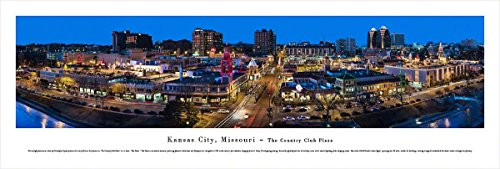 Kansas City, Missouri-The Plaza - Blakeway Panoramas Unframed Skyline - Kansas Shopping City Plaza