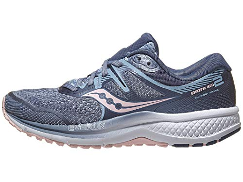 Saucony Women's Omni ISO 2 Running Shoe, Slate/Pink, 11 W US ()