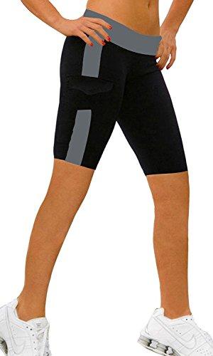 ABUSA Women's YOGA Shorts Sports Leggings Size M Gray