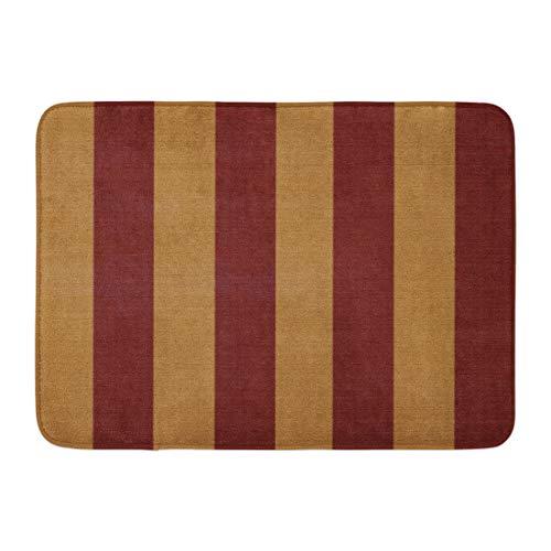 Custom Doormats Nautical Red Tan Stripes Home Door Mats 18 x 30 inches Entrance Mat Floor Rug Indoor/Outdoor/Front Door/Bathroom Mats Rubber Non Slip by TonTong