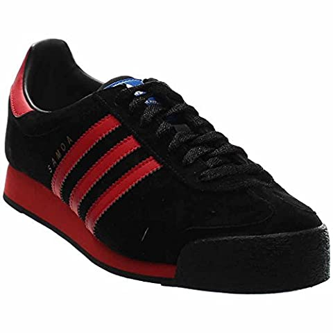Samoa Vintage Mens in Black/Lush Red by Adidas, 8.5 (Gold Adidas Samoa)