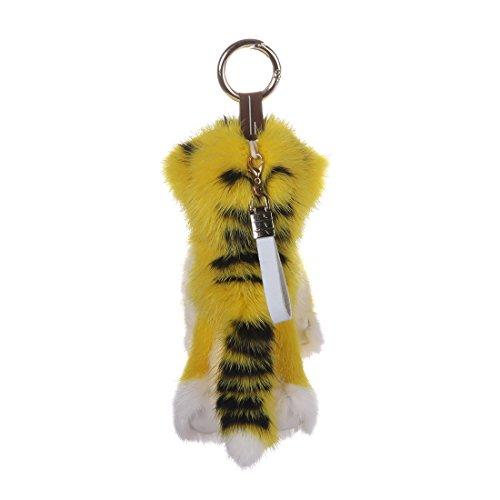 URSFUR Mink Stuffed Tiger Doll Fur Keychain Bag Charm Pendant Monster Toy Phone Tassel Key Chain Hook Accessory by URSFUR (Image #2)