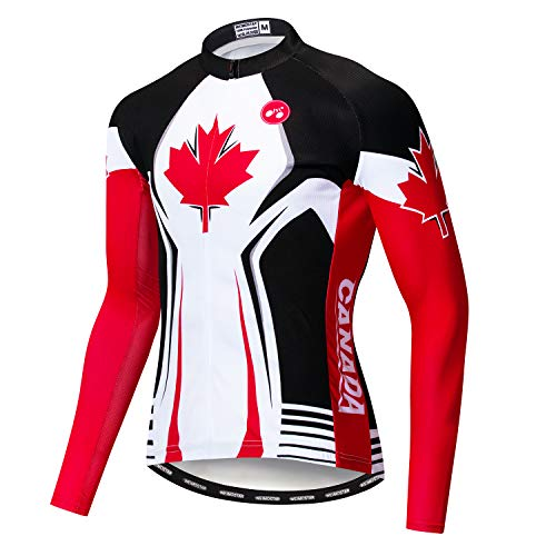 Men's Cycling Jersey Long Sleeve Pro Brand Team Reflective Bicycle Shirts Jacket Canada