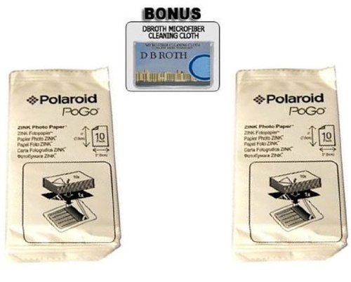2x3 Inch ZINK Photo Paper for Pogo Cameras and Printers (Pack of 20!) (Photo Pogo)