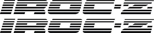Chevy Iroc Z Z28 Camaro Door Decals 1985-90 (Black)