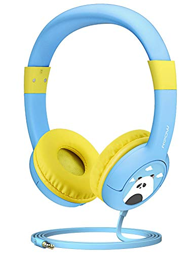 Mpow CH1 Kids Headphones w/85dB Volume Limited Hearing Protection & Music Sharing Function, Kids Friendly Safe Food Grade Material, Tangle-Free Cord, Wired On-Ear Headphones for Children/Toddler/Baby