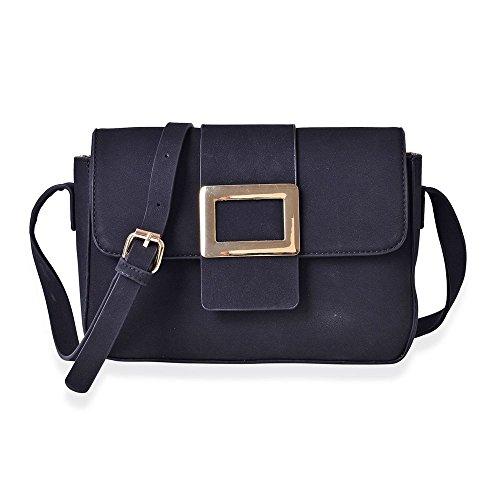 Dazzling Crossbody Bag with Adjustable Shoulder Strap Black