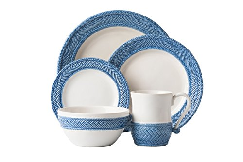 Juliska Le Panier White / Delft Blue 5 Piece place setting