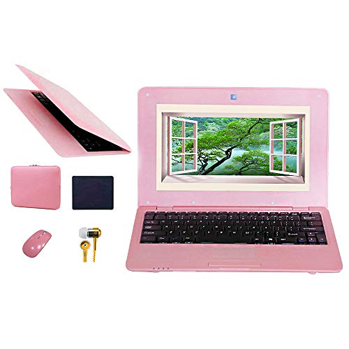 FANCY CHERRY 10 inch 8GB Laptop Netbook Notebook PC Ultrabook Android HDMI Dual Core WIFI Camera, Accessories Laptop Bag…