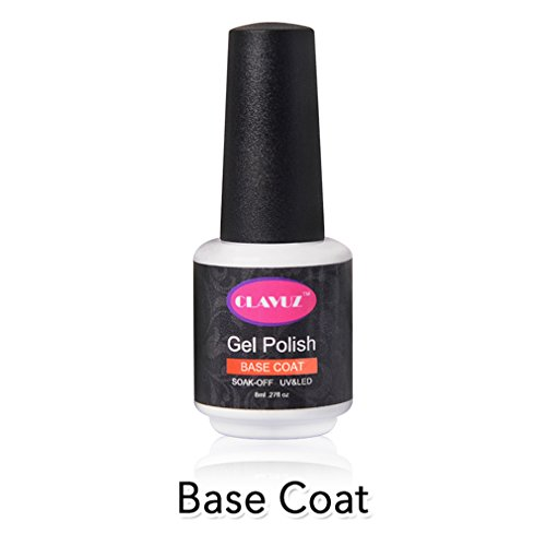 CLAVUZ Base Coat Gel Nail Polish Soak Off UV LED Salon Beaut