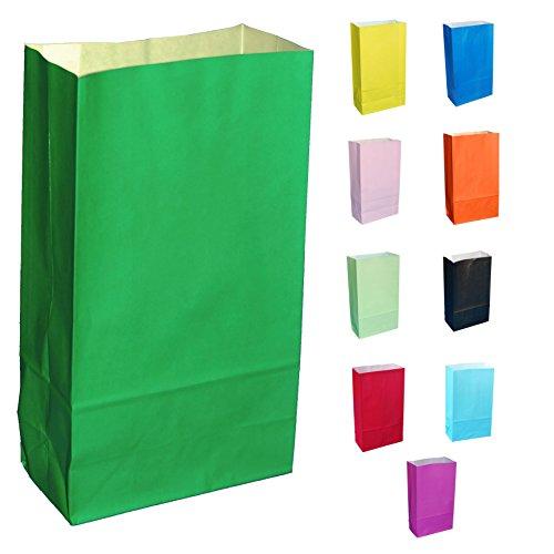 10 Grün Papier Partytüten - wählen Sie Ihre Farbe und Menge