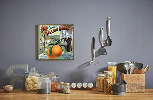 Vintage Orange Ad #2 Canvas - Crate Fruit Vintage