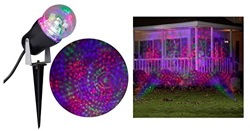 Halloween 10.24 in. LED Phantasm Multicolor Red, Green, Purple Fire Ice Swirling Stake Light