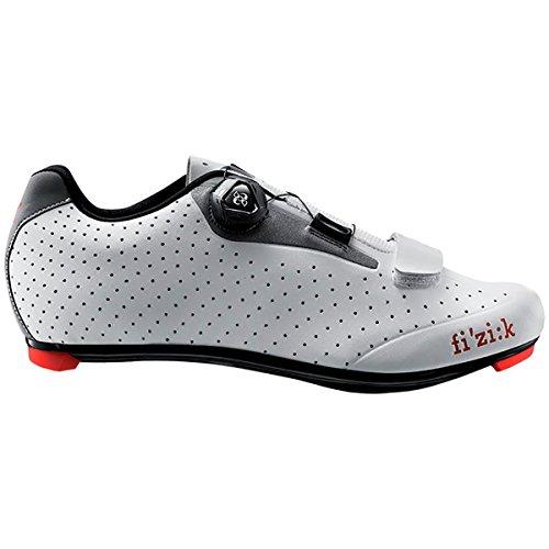 Fizik R5 UOMO BOA Road Cycling Shoes, White/Light Grey, Size 44  White/Light (Road Cycling Shoes)
