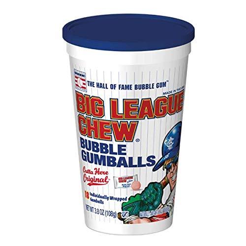 Big League Chew Bubble Gumballs, 18 Count Stadium Cup, 3.8 Ounces