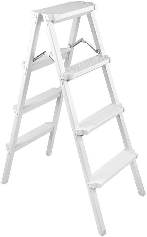 YUEZPKF Durable Multi-Function Ladder Step Ladder Folding Household Extension Ladder Thick Aluminum Alloy (Size : 2 Step) (Size : 4 Step)