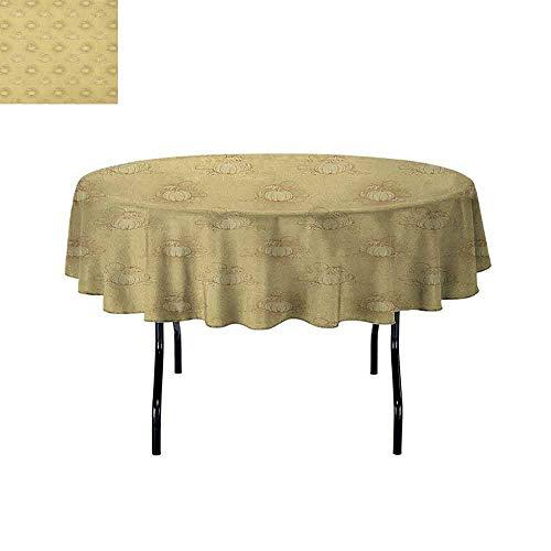 DouglasHill Beige Printed Tablecloth Set of Pumpkins on
