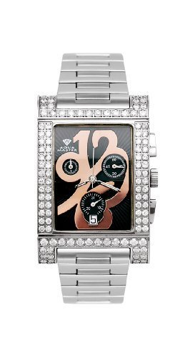 NEW! Aqua Master Unisex Cabernet Diamond Watch, 3.75 ctw by Aqua Master