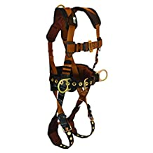 FallTech 7081SM ComforTech Full Body Harness with 3 D-Rings and Tongue Buckle Leg Straps, Small/Medium