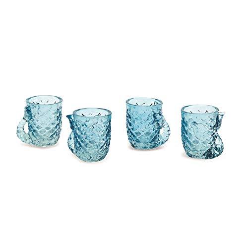 Two's Company Set Of 4 Glass Shot Glasses (Mermaid) (Shot Glass Mermaid)