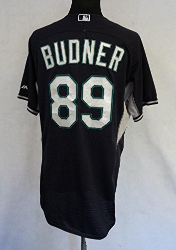 new concept fecce f81e8 2014 Seattle Mariners Scott Budner #89 Game Issued BP Navy ...