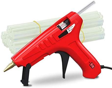 Minmin DIYの工芸品の装飾、ホーム速いメンテナンスに適した、木工、休日の装飾、赤に適した高速な加熱用ホットメルトグルーガン、150Wヘビーデューティーグルーガン、 ミニ (Color : Red)