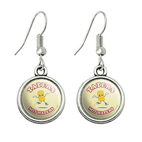 GRAPHICS & MORE Taters Not Haters Tots Funny Humor Novelty Dangling Drop Charm -