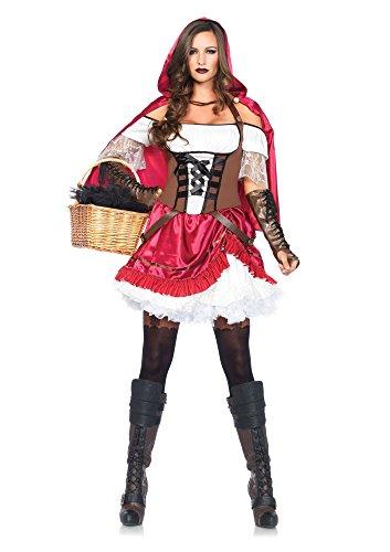 Rebel Riding Hood Adult Womens Costumes (Rebel Riding Hood Costume - Large - Dress Size 12-14)